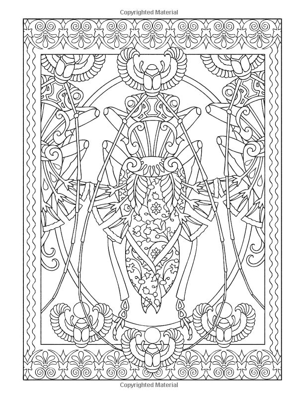 Creative haven incredible insect designs coloring book creative haven coloring books marty noble