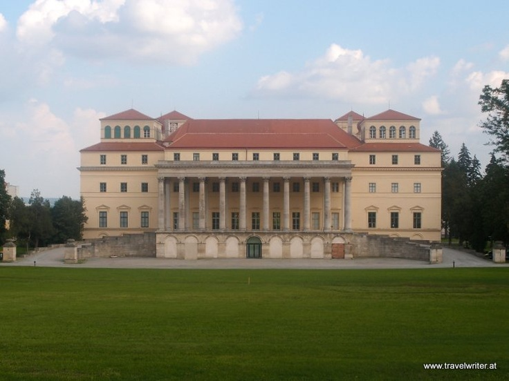 Portico of Esterházy Palace in Eisenstadt, Austria