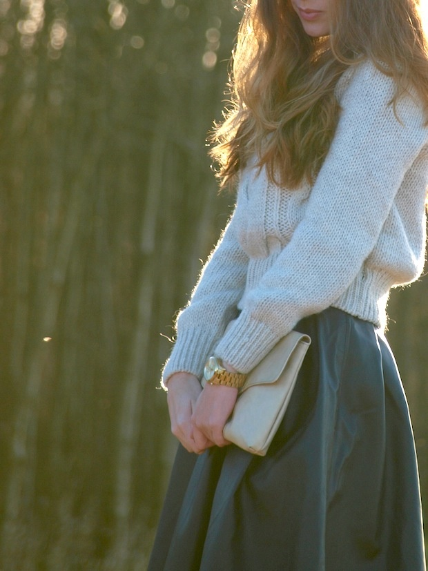 soft and pretty, sweater and skirt