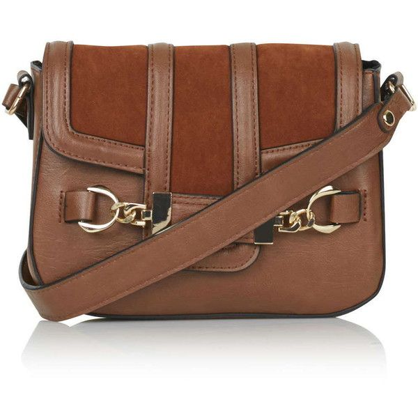 hermas bag  - TOPSHOP Snaffle Front Crossbody Bag (��34) ? liked on Polyvore ...