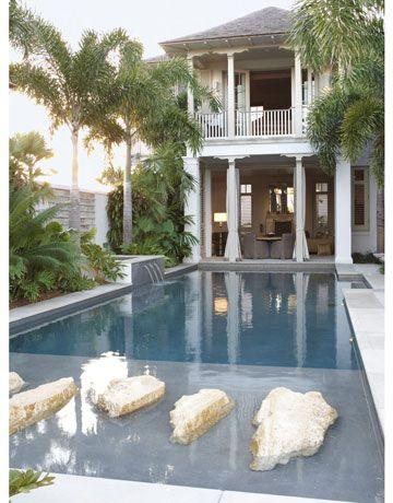 pretty backyard // thomas hamel, house beautiful magazine, moroccan style florida home
