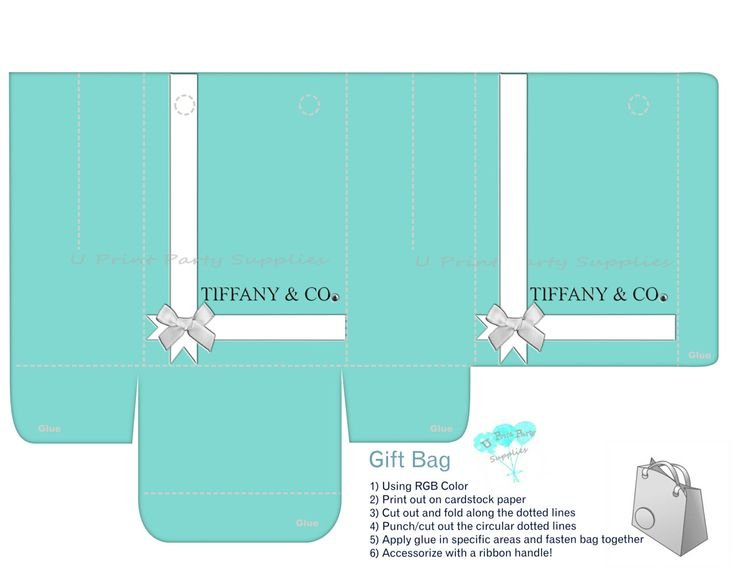 Breakfast At Tiffany's Gift and Favor Bag  by UPrintPartySupplies, $5.00