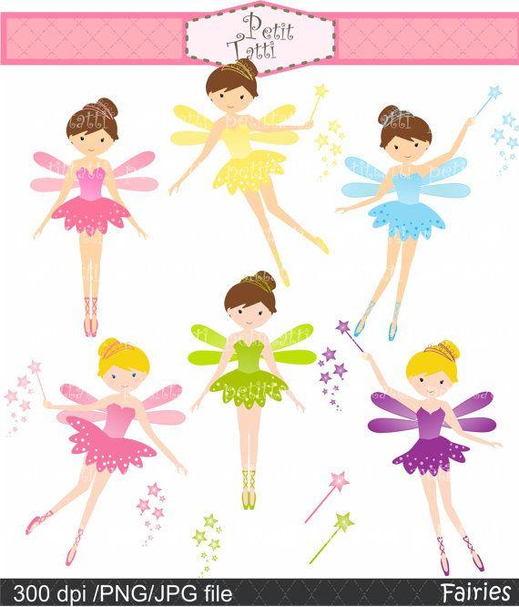 girl clip art cute fairy clip art  Digital clip art  by petittatti, $5.00