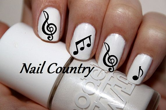 50pc Music Notes Nail Decals Art Stickers By Nailcountry 3 99 Hair And Nails In 2018 Pinterest