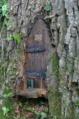 17 best images about me my dream home in the woods on for Secret fairy doors by blingderella