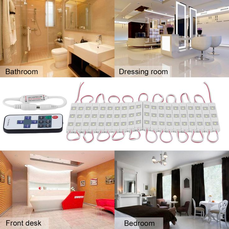 LED Mirror Light 12W Lamps 3m Wall Lamp Bathroom Makeup Mirror Light Adjustable 5630 Mirror Light With Remote Control Light #Affiliate