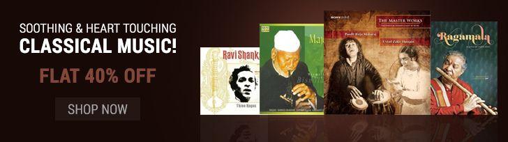 Get 40% Off on Classical Music Songs CDs Online #Classical #Music #Songs #PanditJasraj #BismillahKhan #Indian