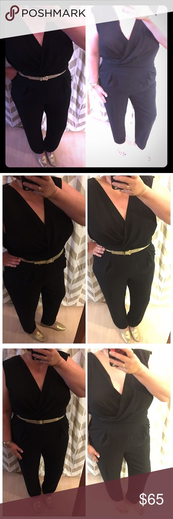 Just In Talbots One Piece Black Pants Jumpsuit This is a must have for the upcoming holiday season, it could be worn so many ways and how much easier can you get then once piece to put on.  I would love to see how you guys would style it.  New with tags never worn Talbots Pants Jumpsuits & Rompers