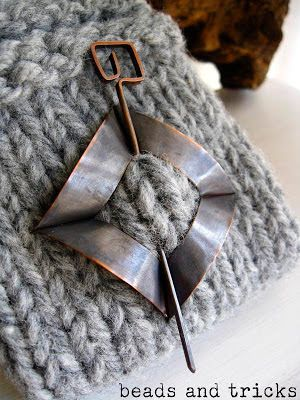 by shawl brooch copper and foldforming