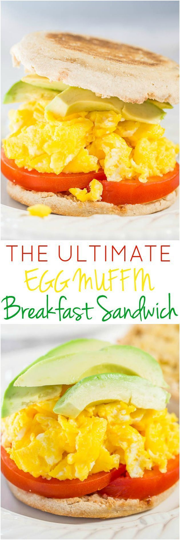 The Ultimate Egg Muffin Breakfast Sandwich - Skip the drivethru and make your own breakfast sandwich in 10 minutes! Healthier, tastes way better, and freezer-friendly for a grab-and-go easy breakfast!