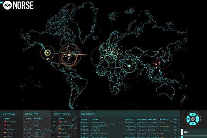 norse cyber attack maps