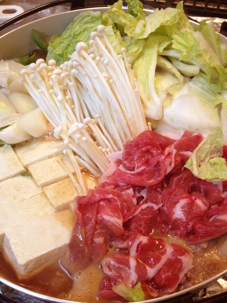 Miso Chanko Nabe  -Chanko Nabe. It is a pot of miso soup taste. #nabe