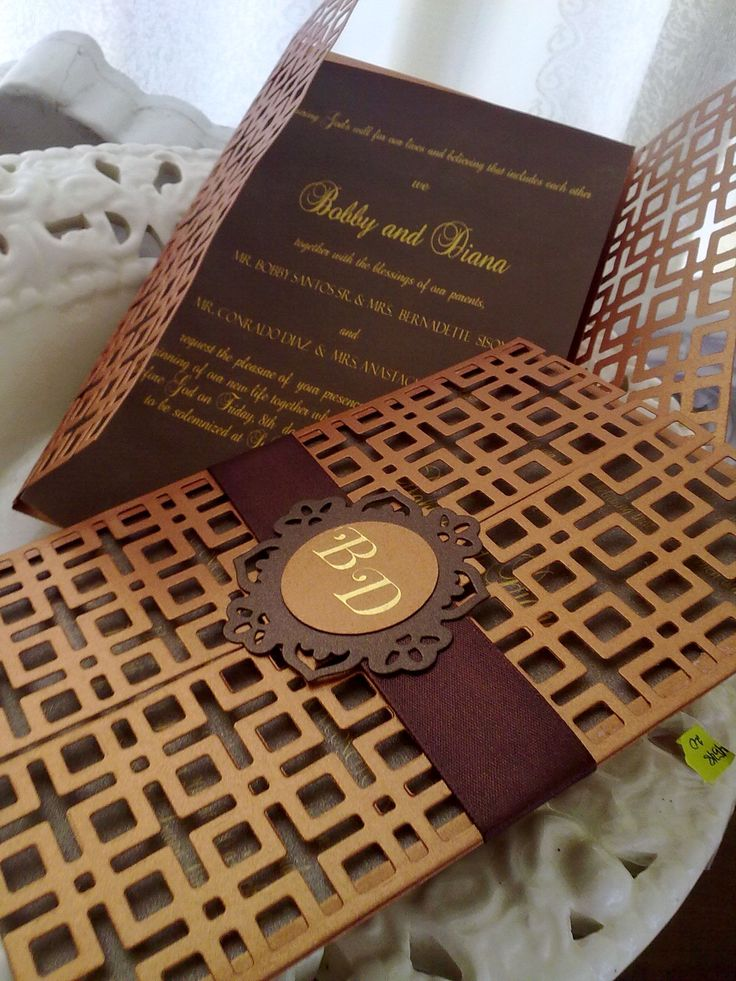 wedding invitation ideas using lattice die cutter & floral doily accent  by May Simon of HandMayed Crafts