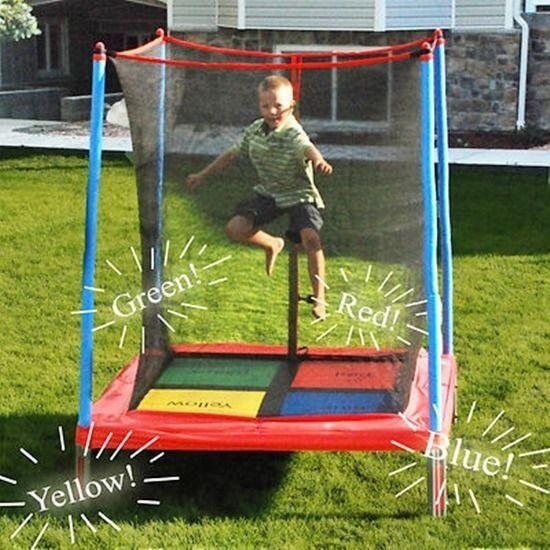 42 best outside trampoline ideas images on pinterest for Trampoline porch swing