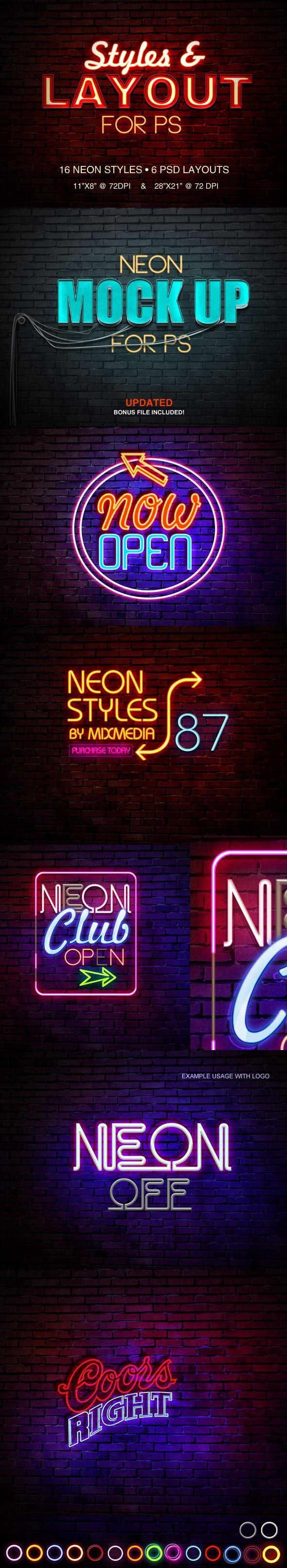 PS Neon Styles on Behance