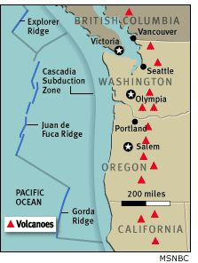 Image: Cascadia subduction zone