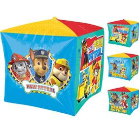 PAW Patrol 3rd Birthday Balloon Bouquet 5pc - Party City