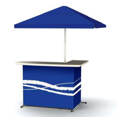 Best of Times Indoor/Outdoor Portable Bar Blue - 2001W1306