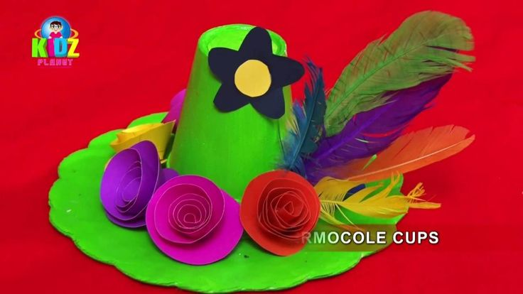 Hawaiian Hat With Thermocole Cups | Arts & Craft | How to Make Hat