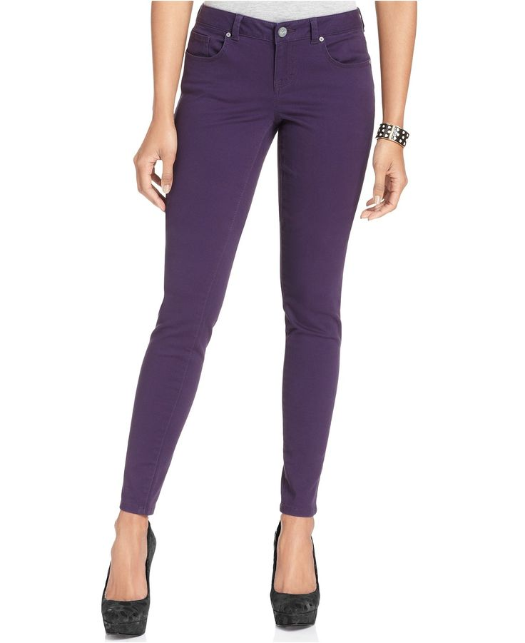 Cool Machine Purple Destroyed Skinny Jeans For Women  Dawoob Women