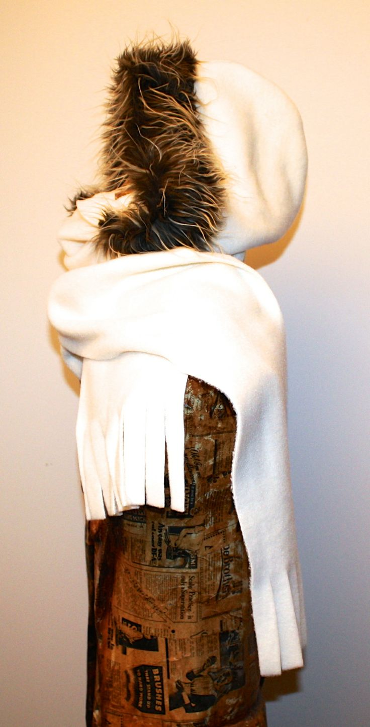 Head HUggie - SH15O_SIDE Brown Tips.  They are made from double thickness non-pill fleece, and the hood is edged with luxurious faux fur. They are very very warm and lightweight and amazing to wear! If you want to check them out further, contact us at malcolmdesignltd@gmail.com