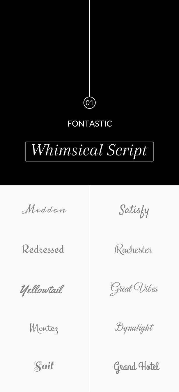 Fontastic 01: Free whimsical web fonts.
