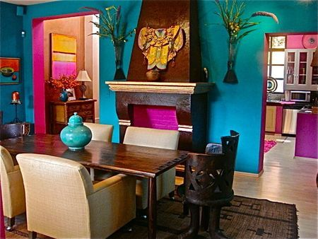 Turquoise colored room in apartment therapy color contest for Bright colored bedroom ideas