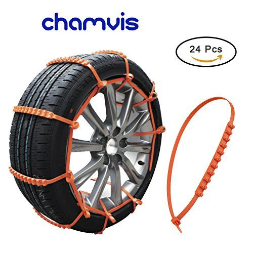 Snow Chains, Chamvis 24 PCS Portable Emergency Anti-Slip Chains, Nylon Tire Snow Chains for Small Car Coupe Off Road Vehicle. For product info go to:  https://www.caraccessoriesonlinemarket.com/snow-chains-chamvis-24-pcs-portable-emergency-anti-slip-chains-nylon-tire-snow-chains-for-small-car-coupe-off-road-vehicle/