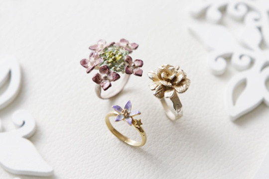 Brough Superior /Chinese bellflower,Hydrangea ring,Melancholia ring
