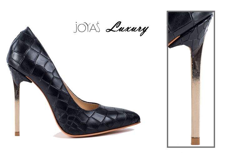 Luxury shoes - Black Keira #JoyasRomania