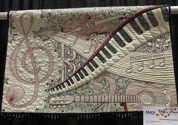 Musical Quilt from Oregon Quilt Show | Quilts | Pinterest ...