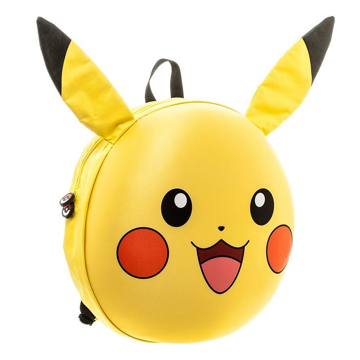 Pokemon Pikachu 3D Molded Backpack, Yellow