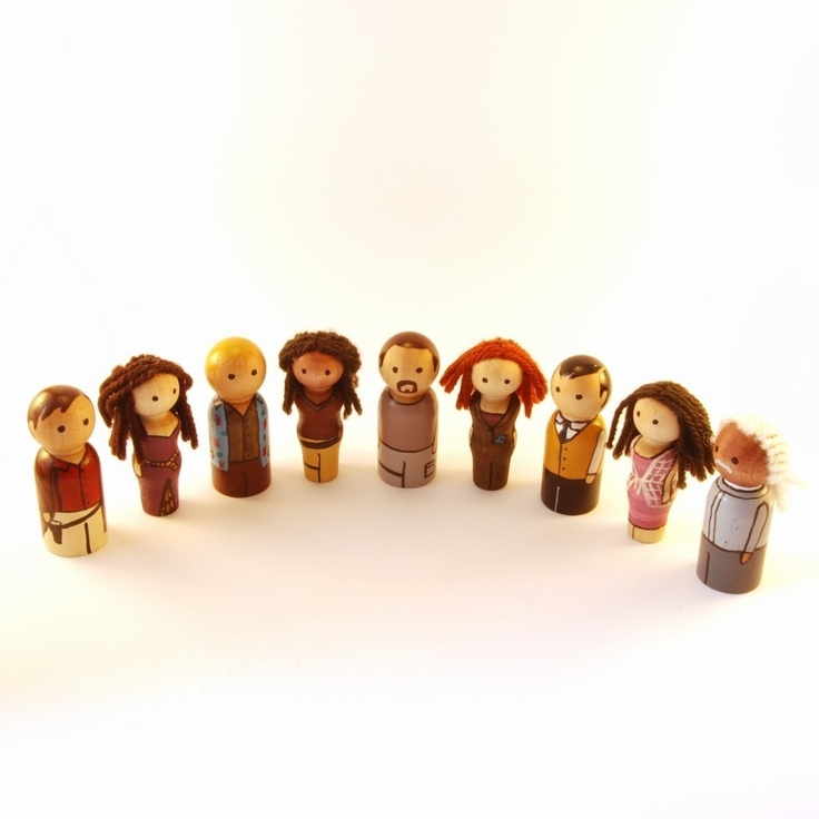 Firefly - Complete Serenity crew peg people -- what is Serenity?  just like the variety of peg peeps...