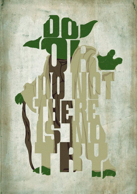 Yoda, Star Wars Poster - Minimalist Typography Poster ...