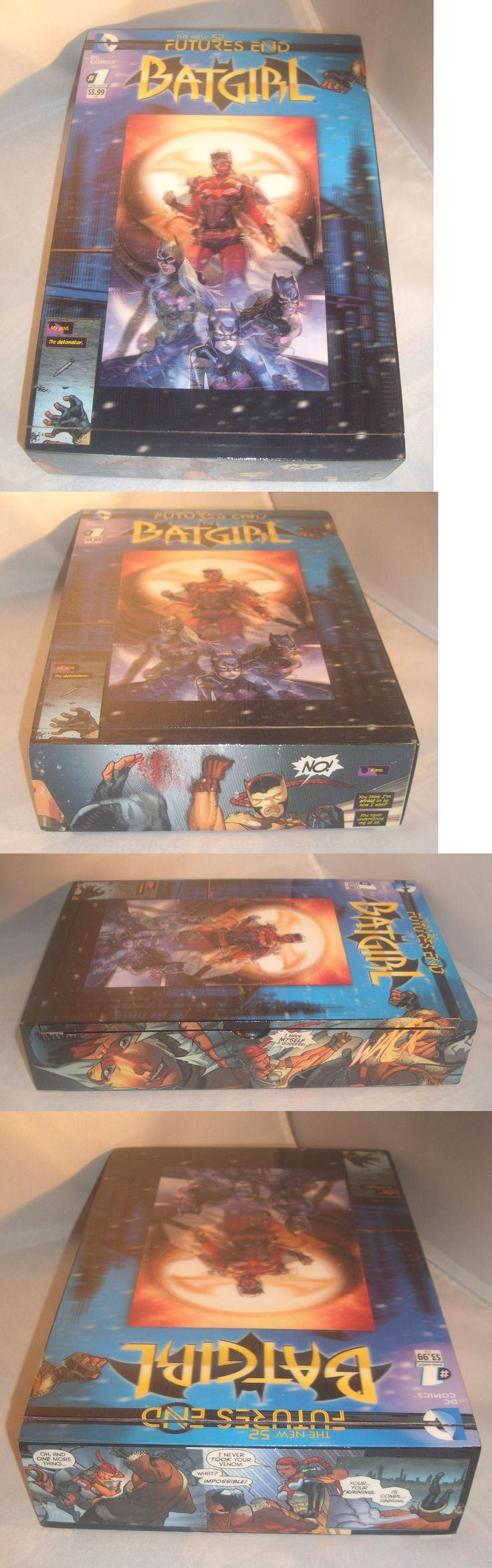 Other Jewelry Organizers 164372: Batgirl Hologram Comics Recycled Wooden Cigar Box BUY IT NOW ONLY: $40.0