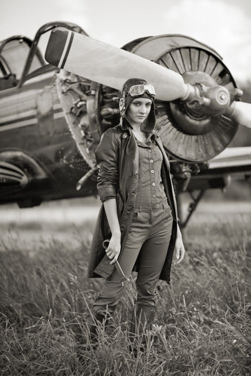 Pilot..  DIESELPUNK Cloggy—-Goggles, Flying Helmet, Radial Aero engine———She qualifies. (the spanner qualifies her for Master Li's Assistant)
