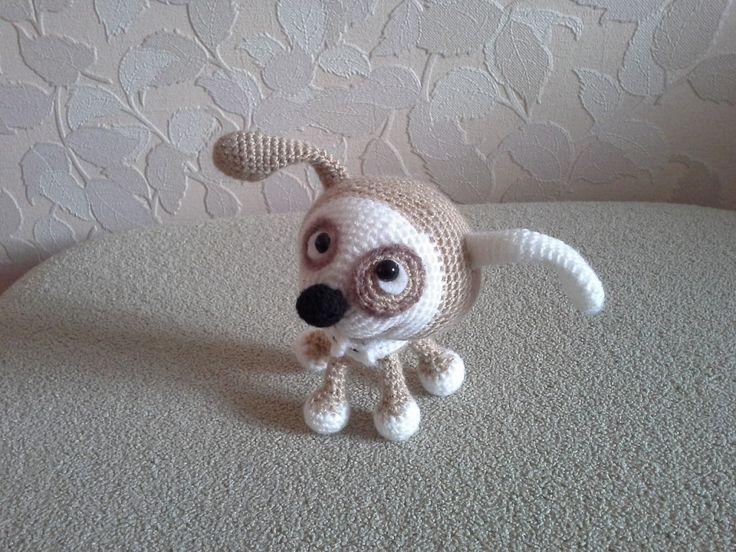 Project by Nati0703. Little Puppy Crochet pattern by Svetlana Pertseva for LittleOwlsHut #LittleOwlsHut, #Amigurumi, #CrohetPattern, #Crochet, #Crocheted, #Puppy, #Pertseva, #DIY, #Craft, #Pattern