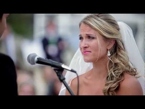 """Every girl deserves a wedding video like this. """"I've waited 4 years, 7 months and 15 days to make this promise to you."""" I cried my eyes out."""