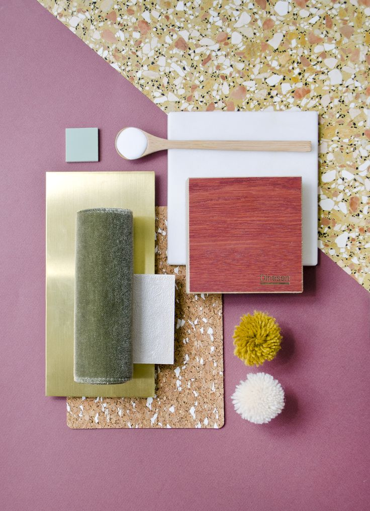 Weekly material mood 〰 Persian Red Oak & Khaki Velvet #velvet #olivegreen…