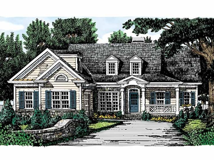 Cottage House Plan With 1727 Square Feet And 3 Bedrooms S