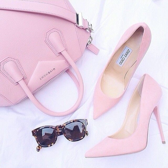 This, like gum, would be perfection! ❤BubbleGum Pink Jimmy Choo's & Givency