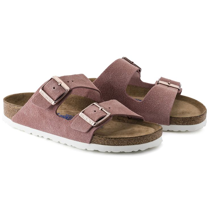 Arizona Suede Leather Soft footbed Rose