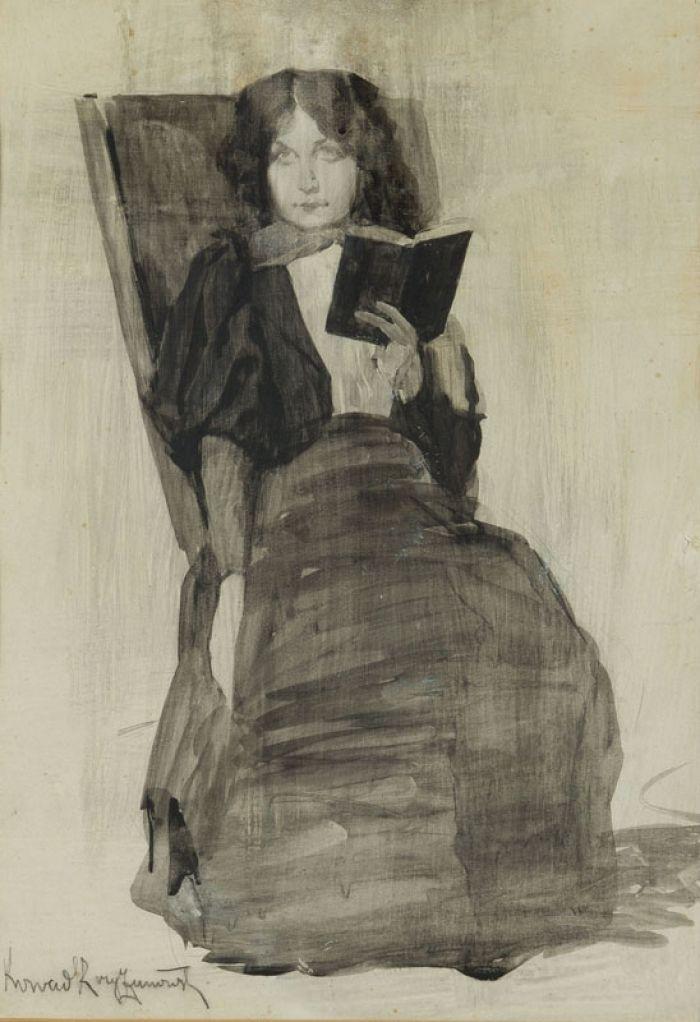Konrad Krzyżanowski - Portret kobiety z książką