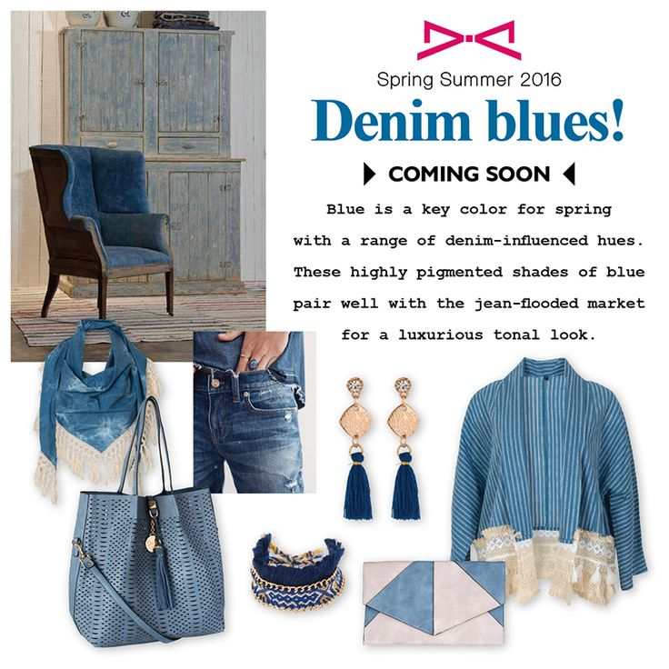 Blue is a key color for Spring with a range of denim-influenced hues! Coming soon at www.achilleasaccessories.gr