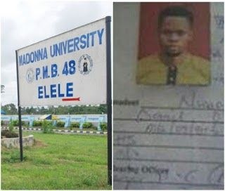 Documents belonging to a Madonna University student who has been identified as Nwago Daniel Obinna was reportedly found in the bush. Facebook user Maxwell Agboinfoh who shared photos of the document wrote;  #viralnewsportal #viral #trending