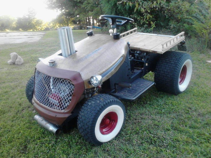Rat Rod Lawn Tractor : Lawn mower custom built fabricated and modified stuff