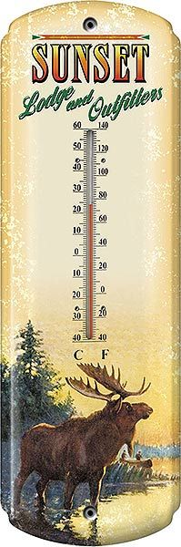 $12.95 - Check out the deal on Sunset Lodge and Outfitters Tin Thermometer at Cabin Place