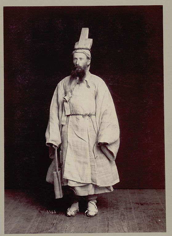 Non-native man in Korean hemp mourning costume. Undated. National Anthropological Archives SIRIS [is it the explorer T. Bolles?]