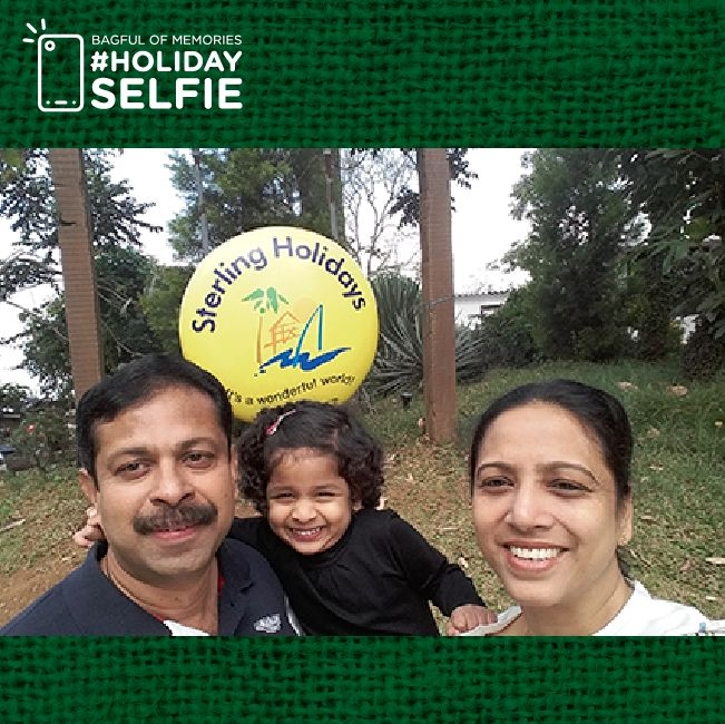 We thank you for your participation for Sterling Holidays' #holidayselfie contest. Needless to say, the memories you shared with us will remain embedded in our hearts. As for the winners, for today we have Antony M R. We hope you enjoyed holidaying with us and taking these memorable selfies; with that note Sterling Holidays wishes you the greetings of this happiest summertime. To view all the winners of the #holidayselfie #bagfulofmemories contest.
