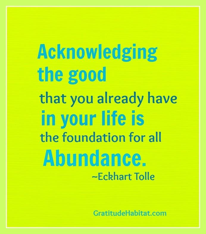 Acknowledging the good. Visit us at: www.GratitudeHabitat.com #gratitude #abu...